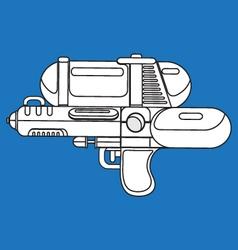 Line water gun vector