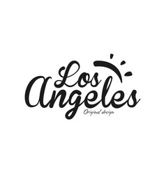 los angeles city name original design black ink vector image