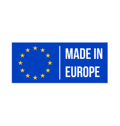 made in europe quality product certificate label vector image