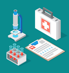 Medical or chemical laboratory equipment set vector