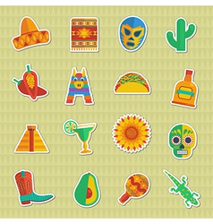 mexican stickers vector image