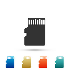 Micro sd memory card icon on white background vector