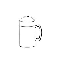 mug of beer hand drawn sketch icon vector image