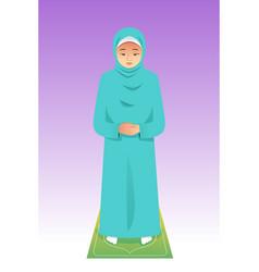 Muslim woman praying vector