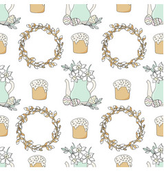narcissus easter holiday seamless pattern vector image