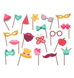 photo booth props carnival accessories vector image