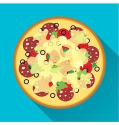 Pizza flat design vector