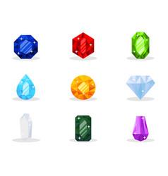Precious gemstones pack vector