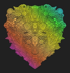 Rainbow hand drawn decorative zentangle vector