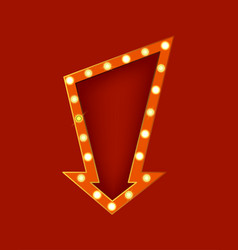 realistic detailed 3d glowing sign signboard vector image