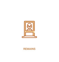 Remains concept 2 colored icon simple line vector