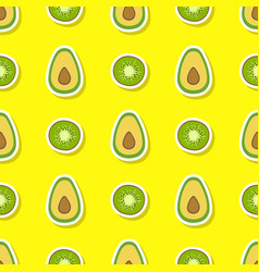 seamless pattern with citrus fruits vector image