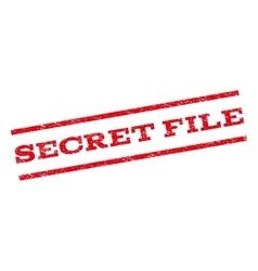 Secret File Watermark Stamp vector image