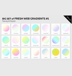 set fresh linear web gradients vector image