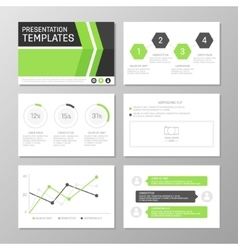 Set of green and gray template for multipurpose vector image