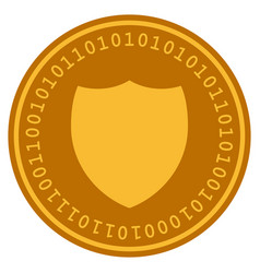 shield digital coin vector image