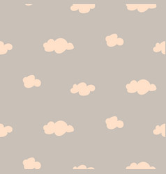 soft pink and gray baby clouds seamless vector image