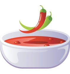 soup hot vector image