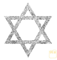 star of david icon symbol israel judaism black vector image