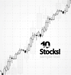 stocks background vector image