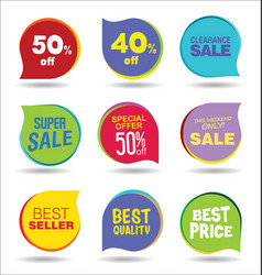 super sale discount tags and stickers collection vector image