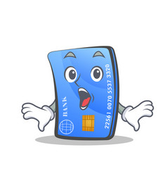 Surprised credit card character cartoon vector