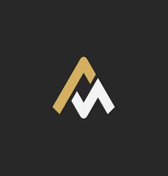triangle line a logo vector image