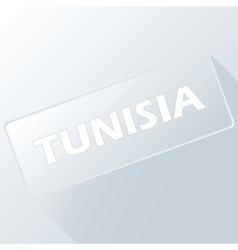 Tunisia unique button vector
