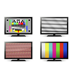 Tv test pattern and no signal screens vector