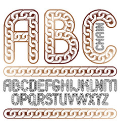 type font script from a to z upper case vector image