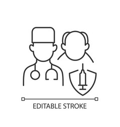 Vaccination priority list linear icon vector