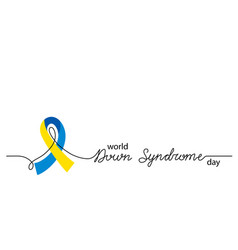 world down syndrome day simple background vector image