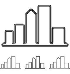City logo design set vector image vector image