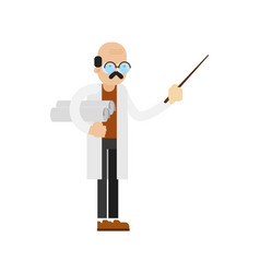 doctor in white coat icon vector image vector image