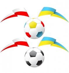 euro 2012 soccer ball vector image