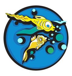 golden fishes clip art vector image