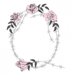 roses and wire frame vector image