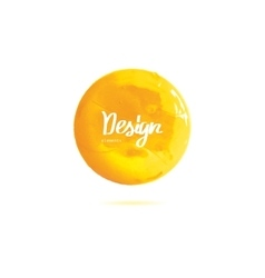 round yellow banner painted with paint vector image vector image
