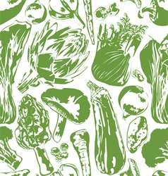 Seamless background with vegetables vector image vector image