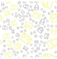 seamless pattern with mail envelopes vector image
