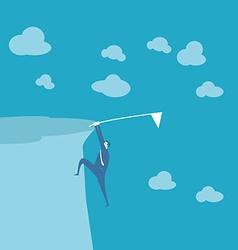 Business man climb mountain vector image