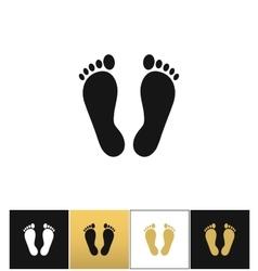 Footprints or human foot prints icon vector image