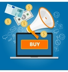 payment click to buy online transaction money vector image