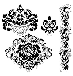 Set of ornate ornaments vector image