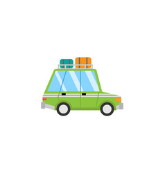 travel car flat icon travel tourism vector image vector image
