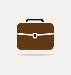 briefcase icon with color and shadow on beige vector image vector image