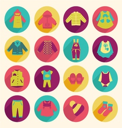 collection of children clothing - vector image vector image