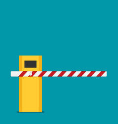 parking barrier gate in flat style vector image vector image