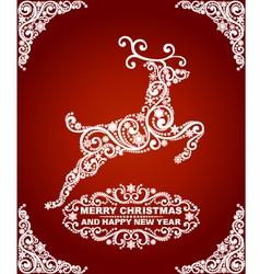 Abstract Christmas Deer vector image