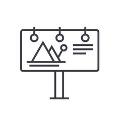 billboardadvertising line icon sign vector image